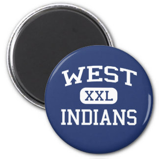 West Indians Middle Rapid City South Dakota 2 Inch Round Magnet