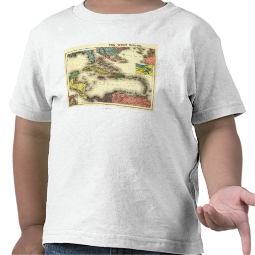 West IndiesPanoramic MapWest Indies T-shirt