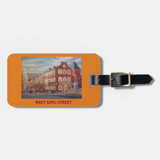 West King St and Central Market Luggage purse tag