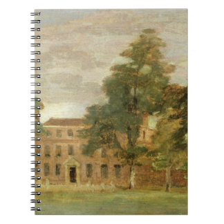 West Lodge, East Bergholt (oil on paper laid on pa Note Book