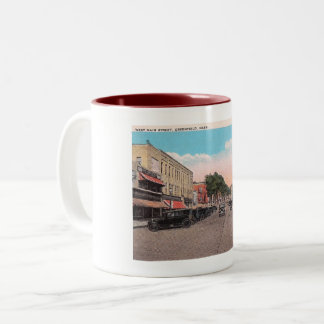 West Main St, Greenfield, Massachusetts Two-Tone Coffee Mug