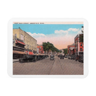West Main St, Greenfield, Massachusetts, Vintage Magnet