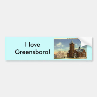 West Market Street, Greensboro NC Vintage Bumper Sticker