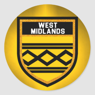 West Midlands Flag Classic Round Sticker