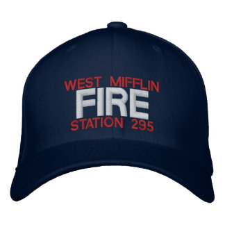 WEST MIFFLIN, FIRE, STATION 295 EMBROIDERED HATS