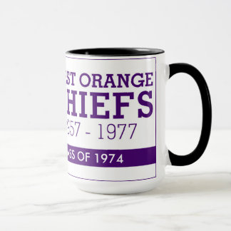 WEST ORANGE CHIEFS 15 OUNCE COFFEE MUG 1974