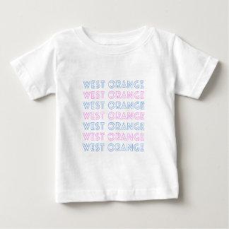 West Orange Retro Tile Design Baby T-Shirt