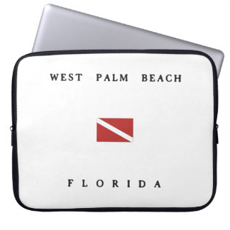 West Palm Beach Florida Scuba Dive Flag Laptop Computer Sleeves