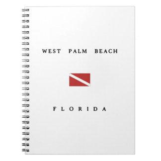 West Palm Beach Florida Scuba Dive Flag Note Book