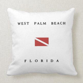 West Palm Beach Florida Scuba Dive Flag Throw Pillow