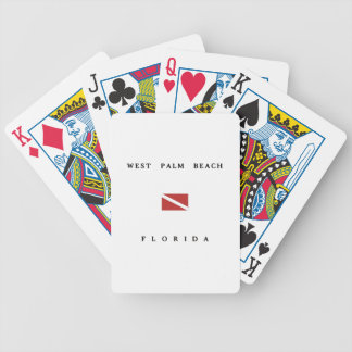 West Palm Beach Florida Scuba Dive Flag Bicycle Playing Cards