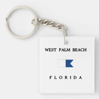 West Palm Beach Square Acrylic Key Chain