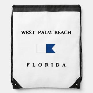 West Palm Beach Drawstring Backpacks
