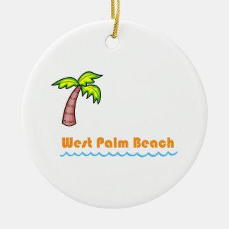 West Palm Beach Round Ceramic Ornament
