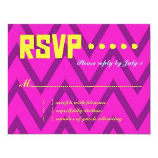 WEST PALM BEACH RSVP Chevron Linen Paper Card