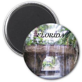 West Palm Beach Waterfall 2 Inch Round Magnet