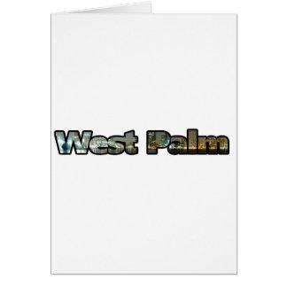 West Palm Skyline Greeting Card