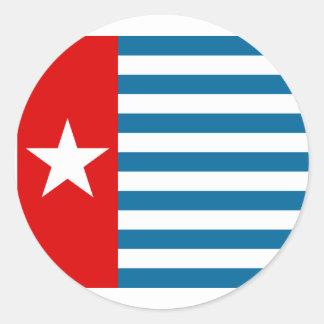 West Papua, Indonesia flag Classic Round Sticker