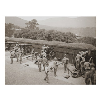 West Point Artillery Practice 1905 Poster
