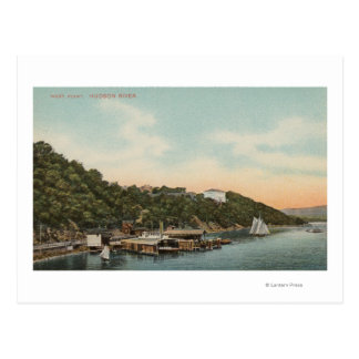 West Point, NY - View of Harbor on Hudson River Postcard