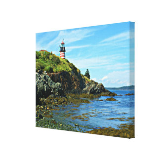 West Quoddy Head Lighthouse, Maine Canvas Print