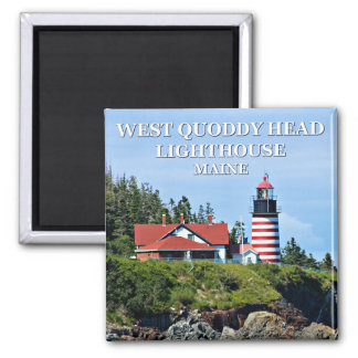 West Quoddy Head Lighthouse, Maine Square Magnet