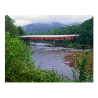 West River Covered Bridge Dummerston VT Postcard