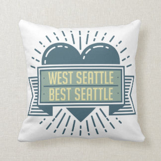 West Seattle is Awesome throw pillow