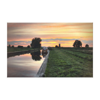 West Somerton Sunset Canvas Prints