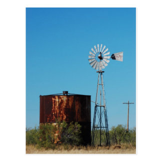 West Texas Windmill and Water Tank Postcard
