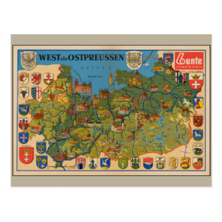 West- und Ostpreussen 1937 Postcard