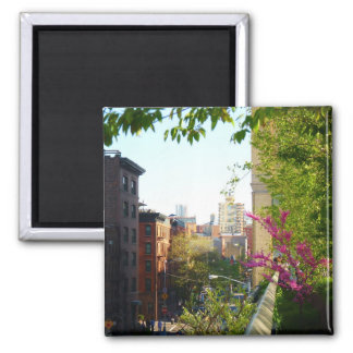 West Village View From The Highline, NYC Fridge Magnets