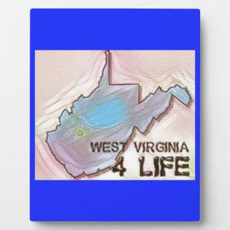 """""""West Virginia 4 Life"""" State Map Pride Design Plaque"""