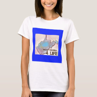 """West Virginia 4 Life"" State Map Pride Design T-Shirt"