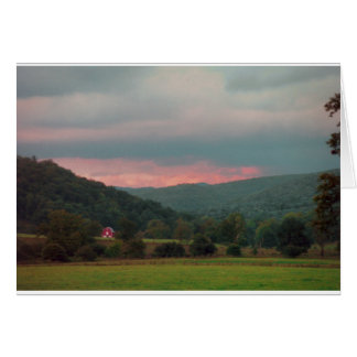 West Virginia Barn Card