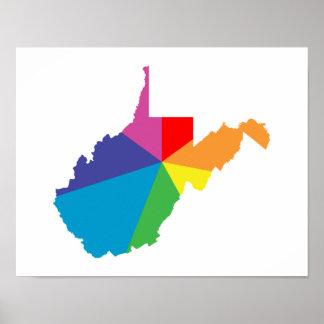 west virginia color burst poster