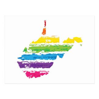west virginia color strokes postcard