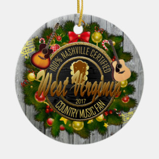 West Virginia Country Music Fan Christmas Ornament