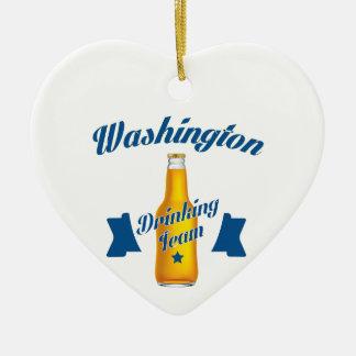 West Virginia Drinking team Ceramic Heart Ornament