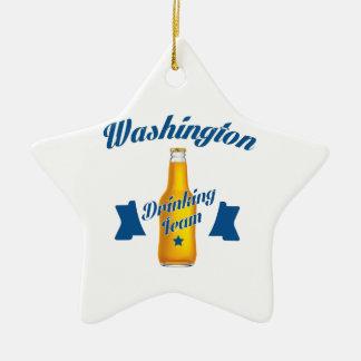 West Virginia Drinking team Ceramic Star Ornament