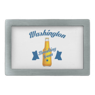 West Virginia Drinking team Rectangular Belt Buckle