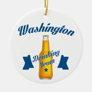 West Virginia Drinking team Round Ceramic Ornament