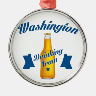 West Virginia Drinking team Silver-Colored Round Ornament