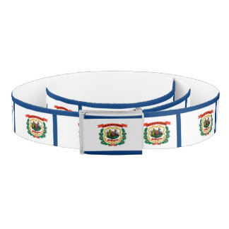 West Virginia Flag Belt
