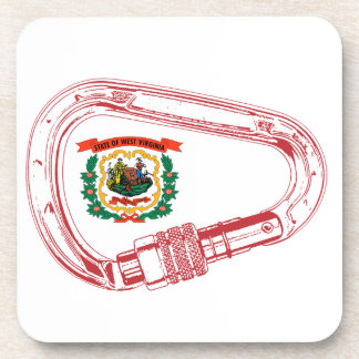 West Virginia Flag Climbing Carabiner Coaster