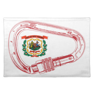 West Virginia Flag Climbing Carabiner Placemat