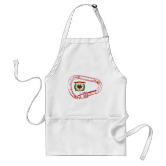 West Virginia Flag Climbing Carabiner Standard Apron