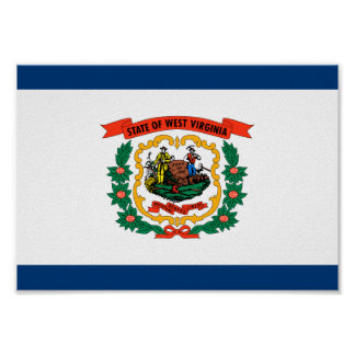 West Virginia Flag Poster