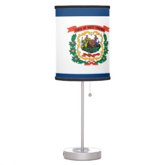 West Virginia Flag Table Lamp