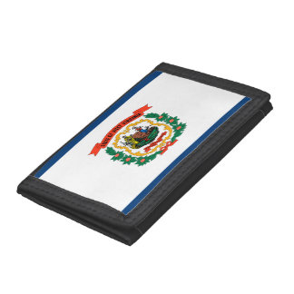 West Virginia Flag Trifold Wallets